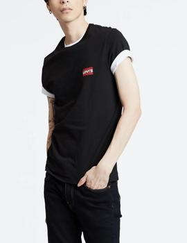Pack 2 camisetas Levis regular blanco/negro