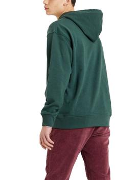 Sudadera Levis relaxed logo verde
