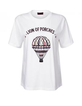 Camiseta Lion of Porches estampada blanco