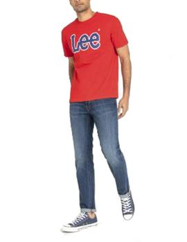 Camiseta Lee logo rojo