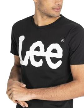 Camiseta Lee logo negro