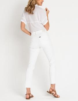 Pantalón vaquero Lee Elly Slim Raw blanco